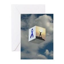 Blue Ribbon Greeting Cards (Pack of 6)