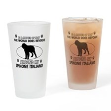 Spinone Italiano dog funny designs Drinking Glass