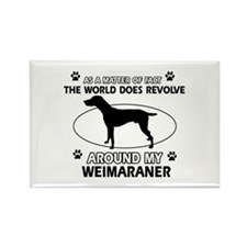 Weimaraner dog funny designs Rectangle Magnet