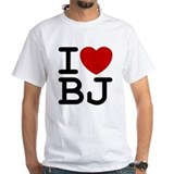 I Heart BJ Mens Ash Grey T-Shirt