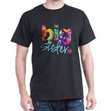 2-big sister flower back T-Shirt