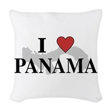 I Love Panama Woven Throw Pillow