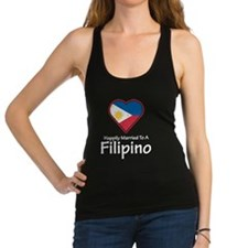 Happily Married Filipino Racerback Tank Top