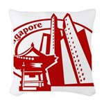 Singapore Woven Throw Pillow