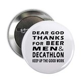 "Beer Men and Decathlon 2.25"" Button"
