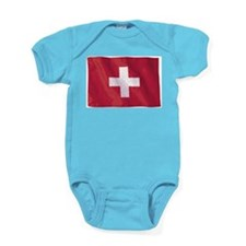 Wavy Switzerland Baby Bodysuit