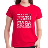 Beer Men and Hockey Tee