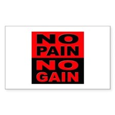 No Pain No Gain Rectangle Decal