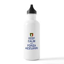 Keep Calm and Forza Azzurri Water Bottle