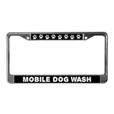 Mobile Dog Wash License Plate Frame