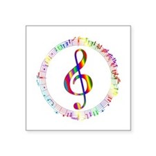 "Music in the Round Square Sticker 3"" x 3"""