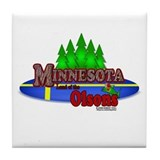 "Minnesota ""Land of the Olsons"" Tile Coaster"