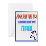 Abolish The IRS Greeting Cards (Pk of 20)