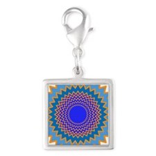 blue peacock design Charms
