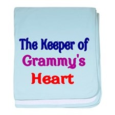 The keeper of Grammys Heart baby blanket