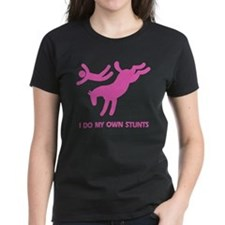 Pink Bucking Horse Stunts Tee