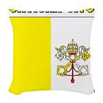 Vatican City Flag Woven Throw Pillow