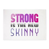 Strong is the new Skinny Purple 5'x7'Area Rug