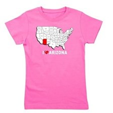 I Love Arizona Girl's Tee