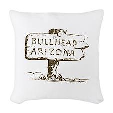 Retro Bullhead Arizona Woven Throw Pillow