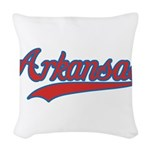 Retro Arkansas Woven Throw Pillow