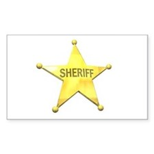 Sheriff Badge Rectangle Decal