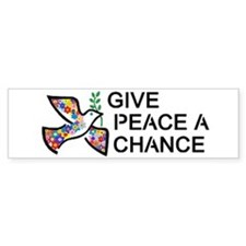 Give Peace a Chance Car Sticker