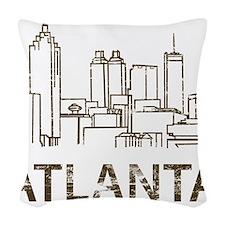 Vintage Atlanta Woven Throw Pillow