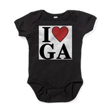 I Love Georgia Baby Bodysuit