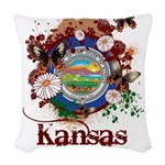 Butterfly Kansas Woven Throw Pillow