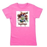 Butterfly Kansas Girl's Tee