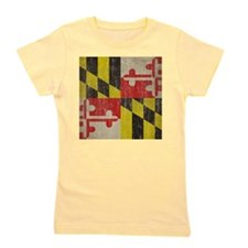 Vintage Maryland Flag Girl's Tee