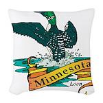 Minnesota Loon Woven Throw Pillow