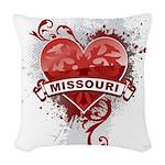 Heart Missouri Woven Throw Pillow
