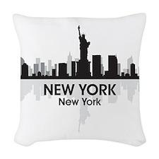 New York Skyline Woven Throw Pillow