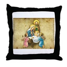 Holy Family Nativity with Angelic visitors Throw P