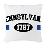 Pennsylvania 1787 Woven Throw Pillow