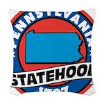 Pennsylvania Statehood Woven Throw Pillow