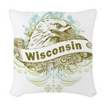Eagle Wisconsin Woven Throw Pillow