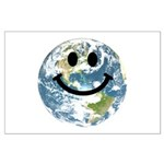 Happy earth smiley face Poster Art