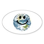 Happy earth smiley face Sticker