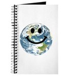 Happy earth smiley face Journal