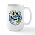 Happy earth smiley face Mug