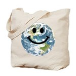 Happy earth smiley face Tote Bag