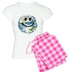 Happy earth smiley face pajamas