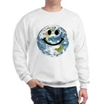Happy earth smiley face Jumper