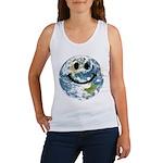 Happy earth smiley face Tank Top