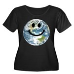 Happy earth smiley face Plus Size T-Shirt