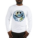 Happy earth smiley face Long Sleeve T-Shirt