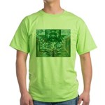 Olmec Were Jaguar  Green T-Shirt
